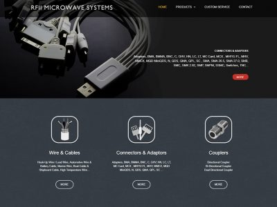 RFII MICROWAVE SYSTEMS-RWD響應式網站案例-網頁設計